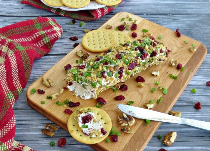 Cranberry Walnut Holiday Cheese Log Recipe