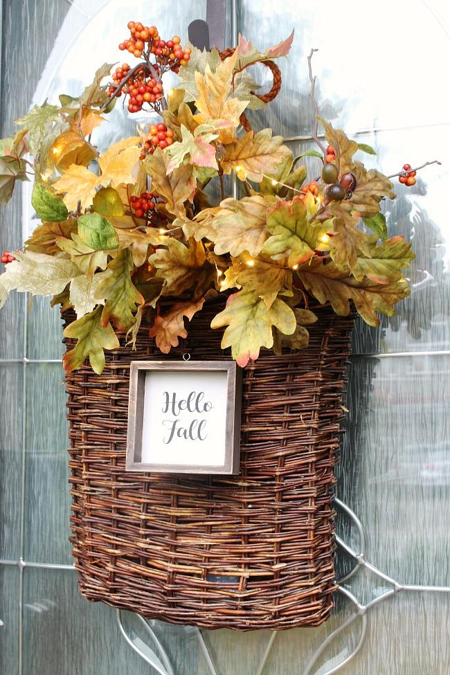 Fall Basket Wreath DIY