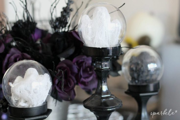 Mini Cheesecloth Ghost Globes * sparkle living blog