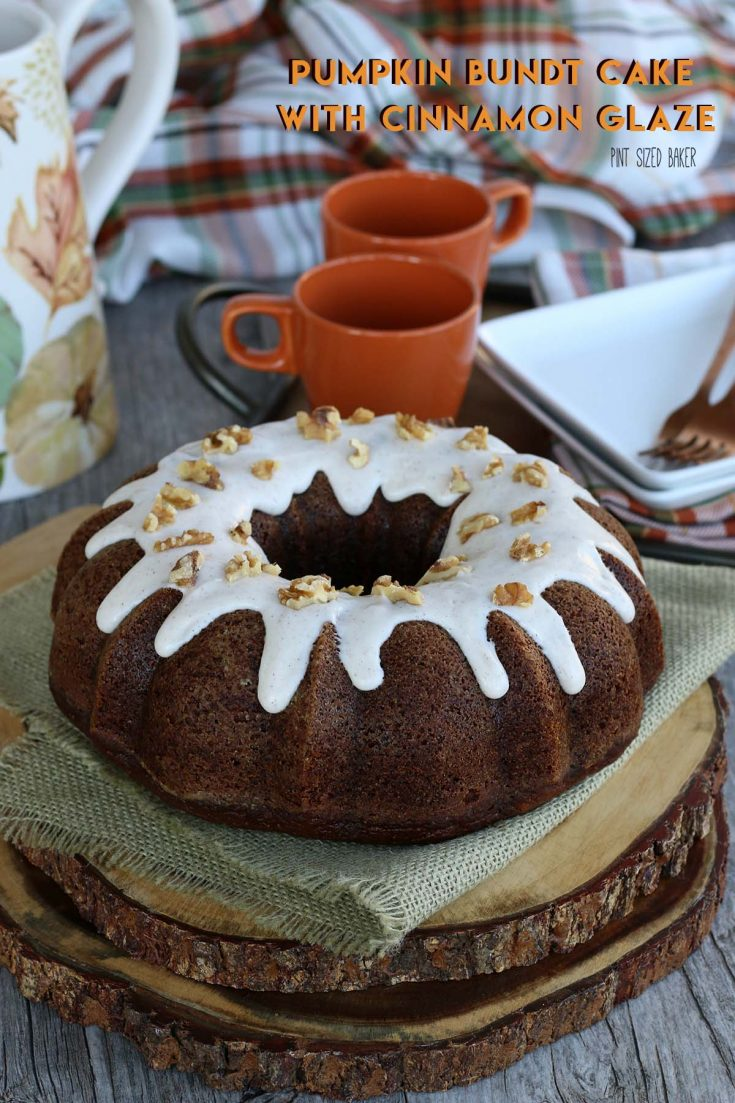Pumpkin Bundt Cake with Cinnamon Glaze Recipe