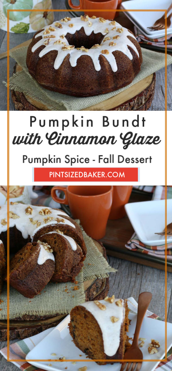 Making a bundt cake pumpkin recipe is great for fall, especially in this bundt pan! My bundt cake recipe is beautiful and delicious.