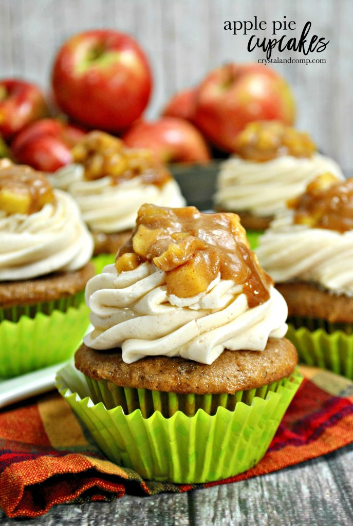Apple Pie Cupcakes with Cinnamon Icing