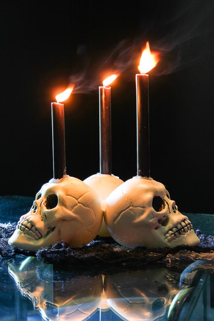 Easy DIY Dollar Tree Skull Candle Holder
