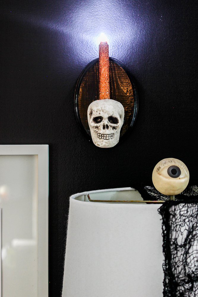 DIY Skull Sconce in 15 Minutes