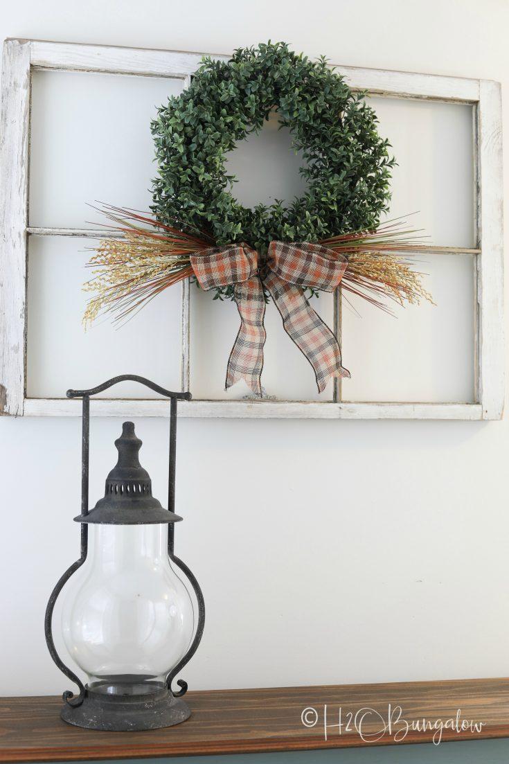 Easy Fall Boxwood Wreath