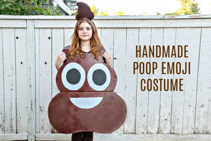 How to Make A Poop Emoji Costume For Kids - Easy DIY Halloween Costume