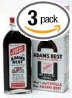Adams Extract Flavoring 1.5oz Bottles (Pack of 3) Choose Flavor Below (Adams Best Twice as Strong Vanilla 1.5oz)