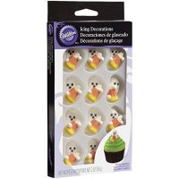 Halloween Royal Icing Decorations with Candy Corn