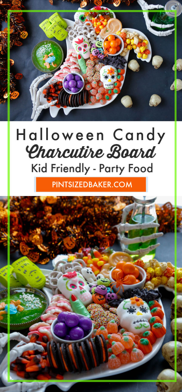 Have a great Halloween party and serve up a Halloween Candy Charcutrie Board filled to the brim with fun and festive treats!