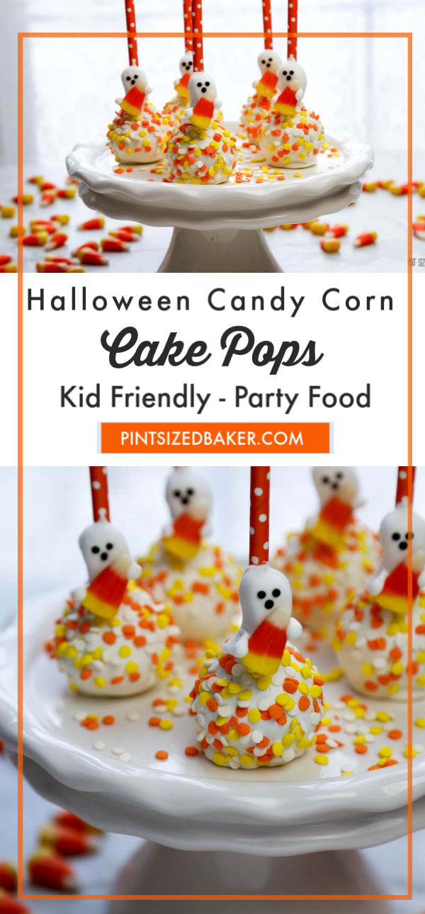 Super easy, super fun, these Halloween Candy Corn Cake Pops can easily be made in no time! Colorful sprinkles, premade candy, and fun straws to the rescue.
