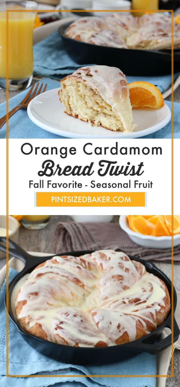 This twist bread is the perfect for brunch. My orange cardamom breakfast twist bread recipe is a homemade treat that the whole family will love.