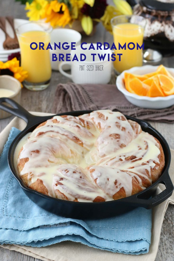 Orange Cardamom Breakfast Bread Twist