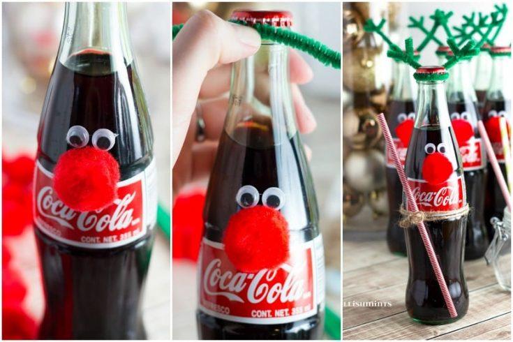 Easy Coke Bottle Reindeer