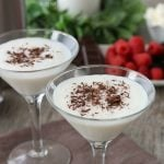 Making a white chocolate martini with vanilla vodka, and white chocolate liqueur is easy! This white martini is simple and delicious!