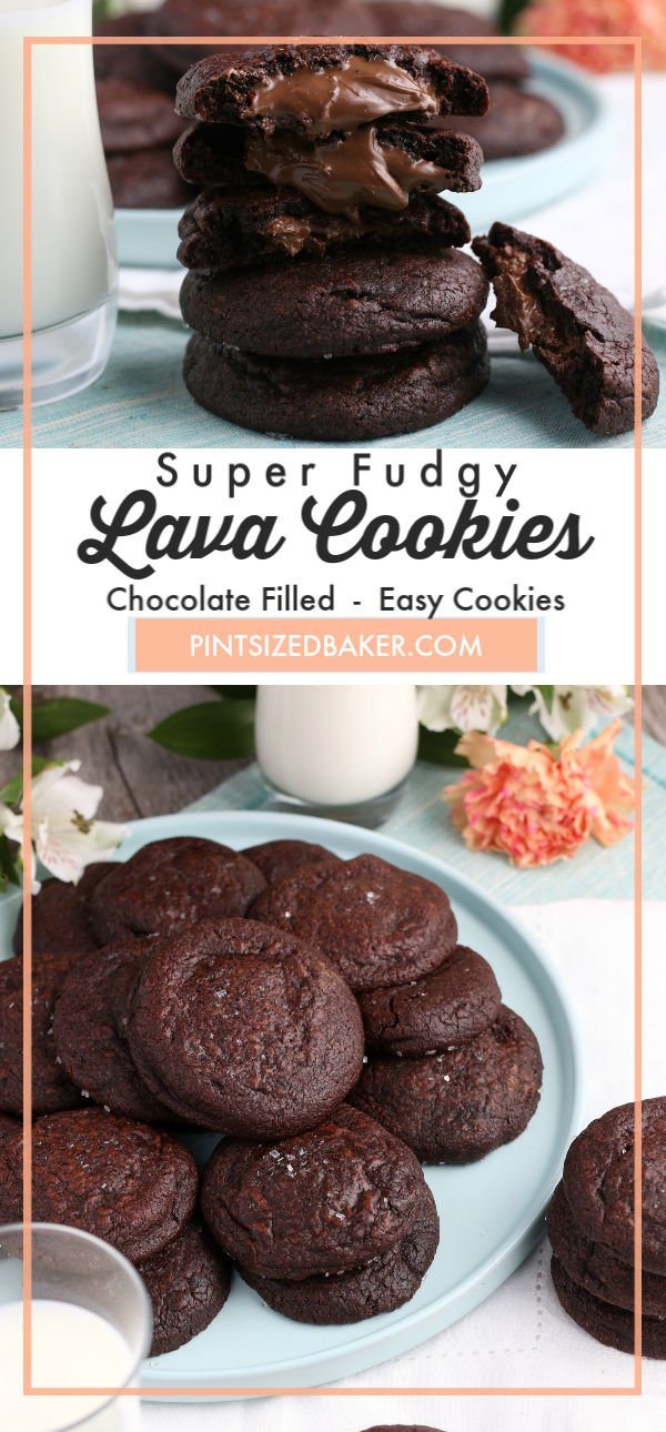My fudgy lava cookies are the most delicious chocolate cookies that everyone will love. These cookies are always a crowd pleaser!