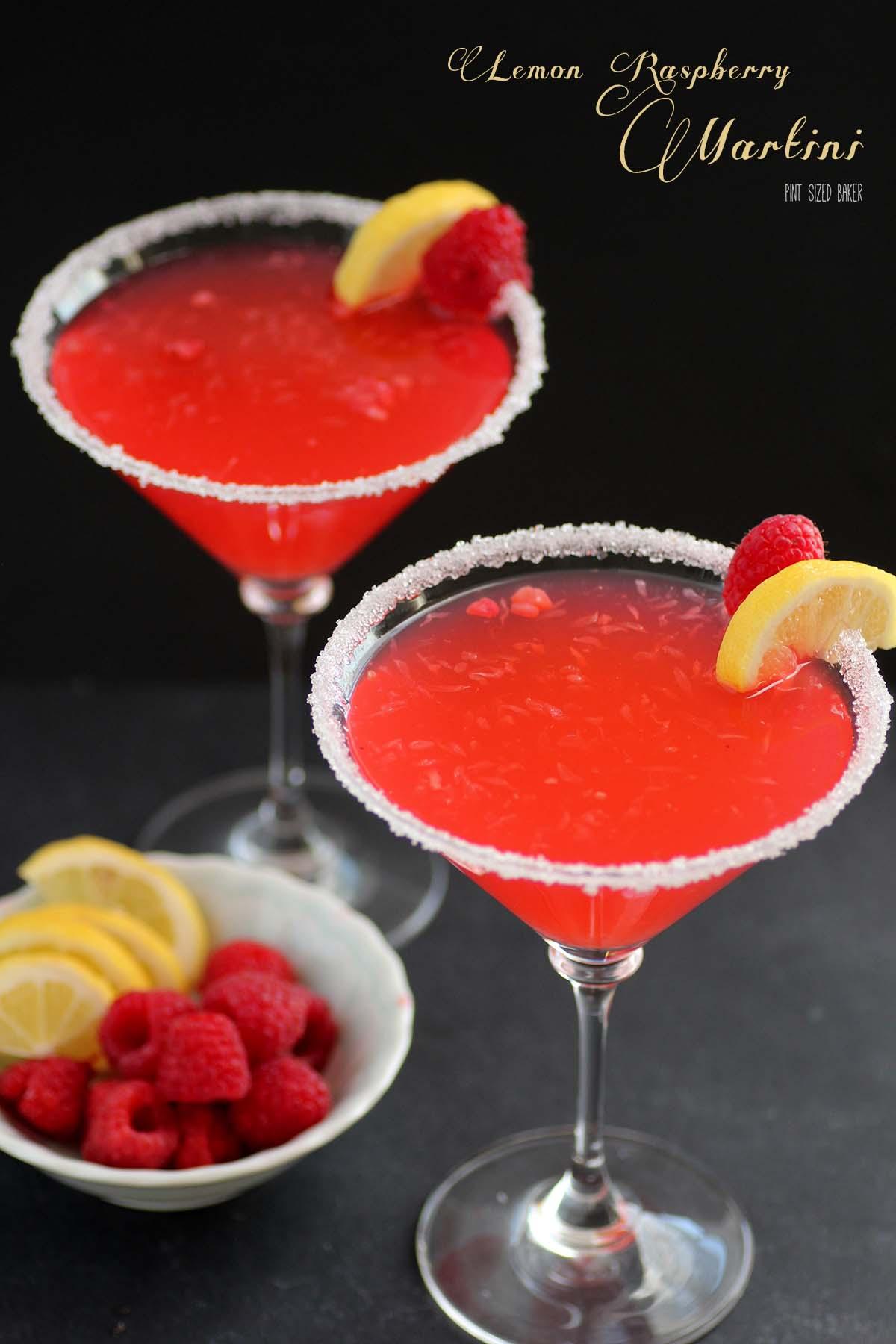 Lemon Raspberry Martinis