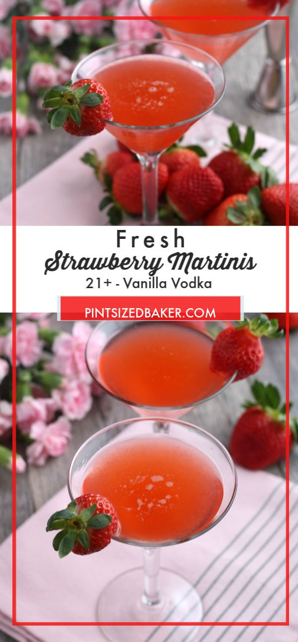 This Strawberry Vodka Martini recipe is easy and delicious. Enjoy the sweet, pink drink for cocktails with your girlfriends.