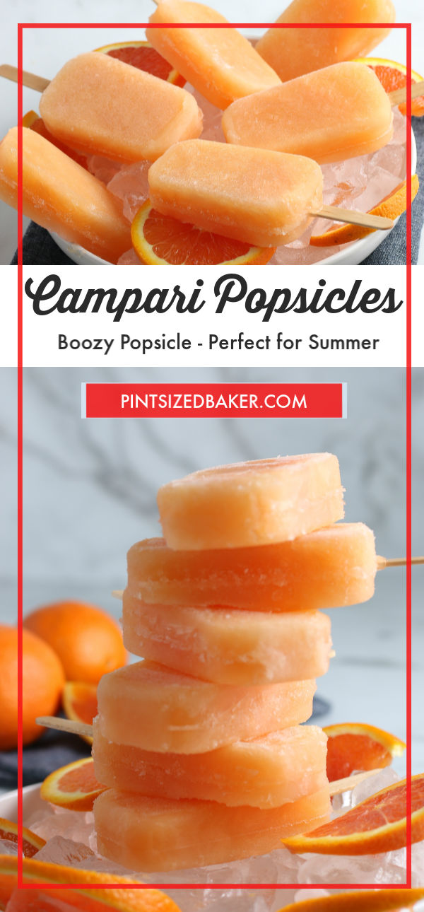 A collage image of the Campari Popsicles.