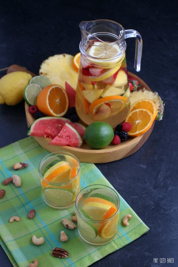 Serve your chilled citrus sangria with fresh slices of orange, lemons, and limes.