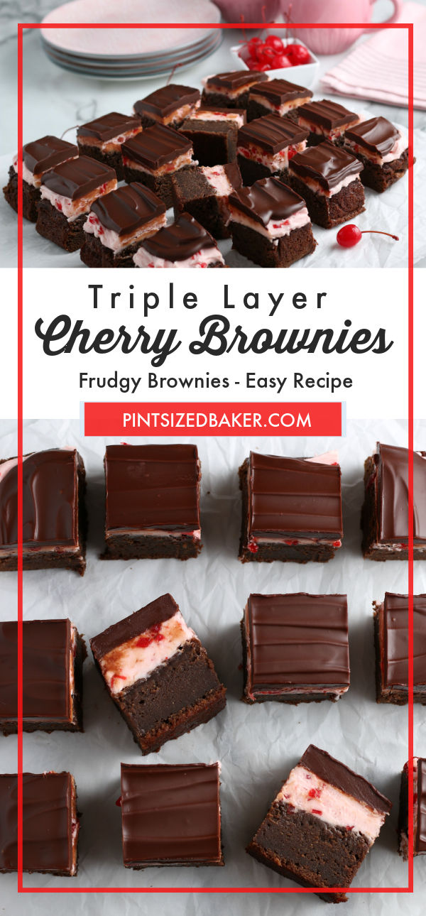 For an update to your everyday brownies, I have a super simple recipe that is sure to be a crowd-pleaser! All three layers of deliciousness are sure to satisfy your sweet tooth and bring you back for more. My Triple Layer Cherry Brownies are perfect for your next special occasion or normal Friday night.