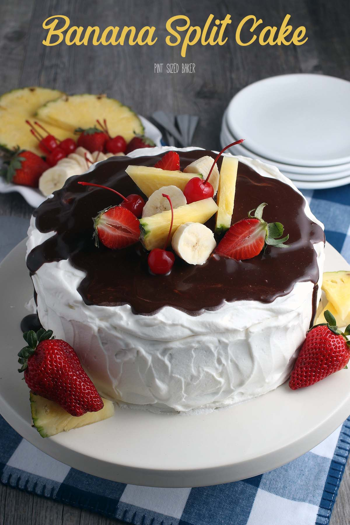 Making this recipe for banana split cake is simple! I'll show you how to make banana split cake, the perfect easy dessert recipe.