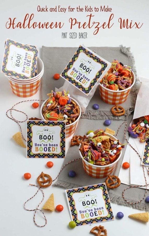An image linking to my Halloween Pretzel Snack Mix Recipe