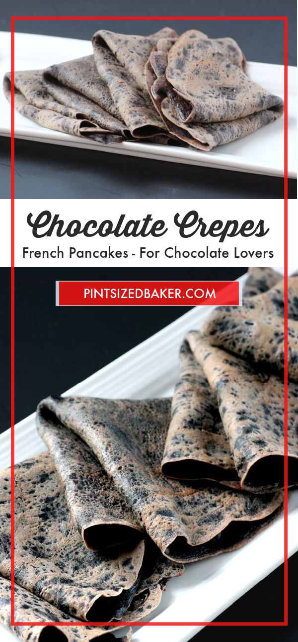 Why have boring basic crepes when you can punch them up with cocoa! These Chocolate Crepes are perfect for a romantic dessert.