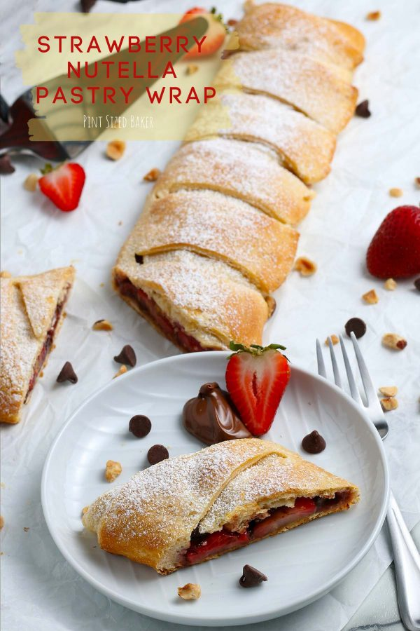 The lead in image for the Strawberry Nutella Pastry Wrap with text.