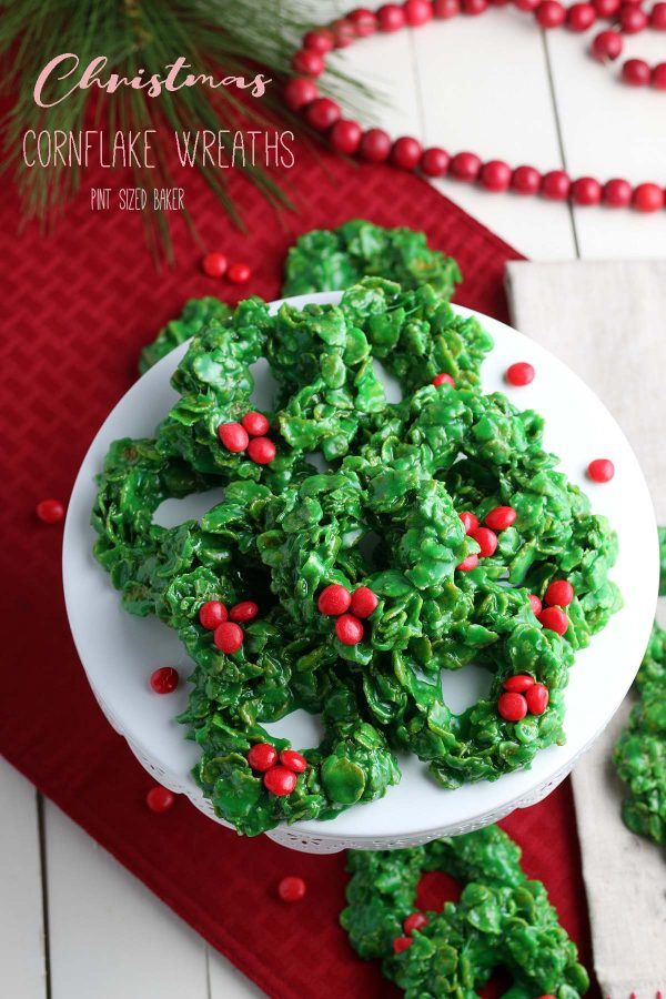 An image linked to my Christmas Cornflake Wreaths recipe.