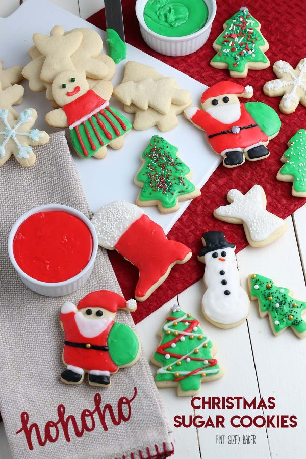Lead in image with the Cut-Out Holiday Sugar Cookies - some are decorated with icing and some are left undecorated.