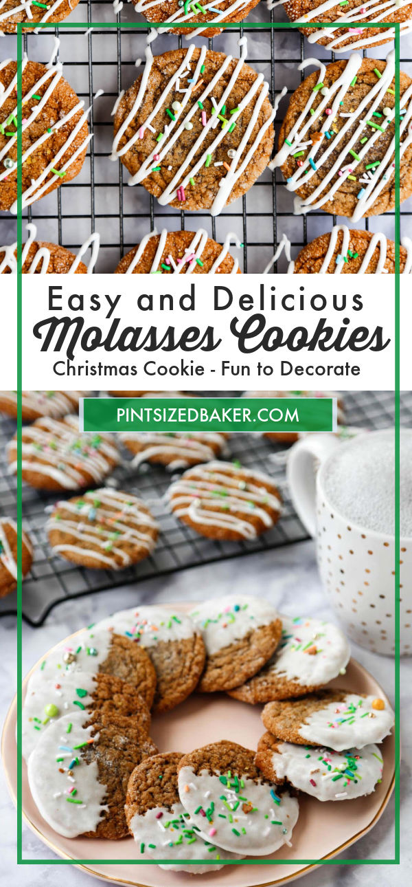 These soft molasses cookies are a MUST each Christmas season. They are little bites of happiness that everyone loves to savor. The recipe is versatile enough for crinkle cookies and cut-out cookies. We love them every Christmas!