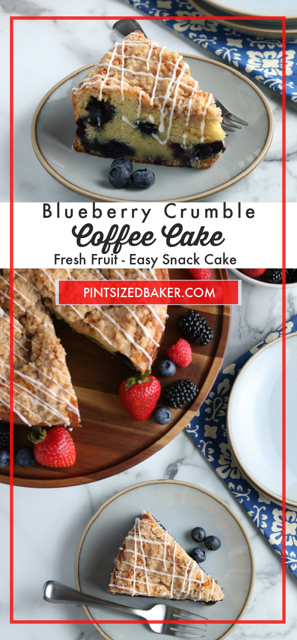 Does it get much better than starting the day with some blueberry coffee cake? This is a recipe you'll adore, from the cake's buttery fluffy texture to the easy, quick instructions. Grab your favorite summer fruit and let's get started putting together a special breakfast treat!