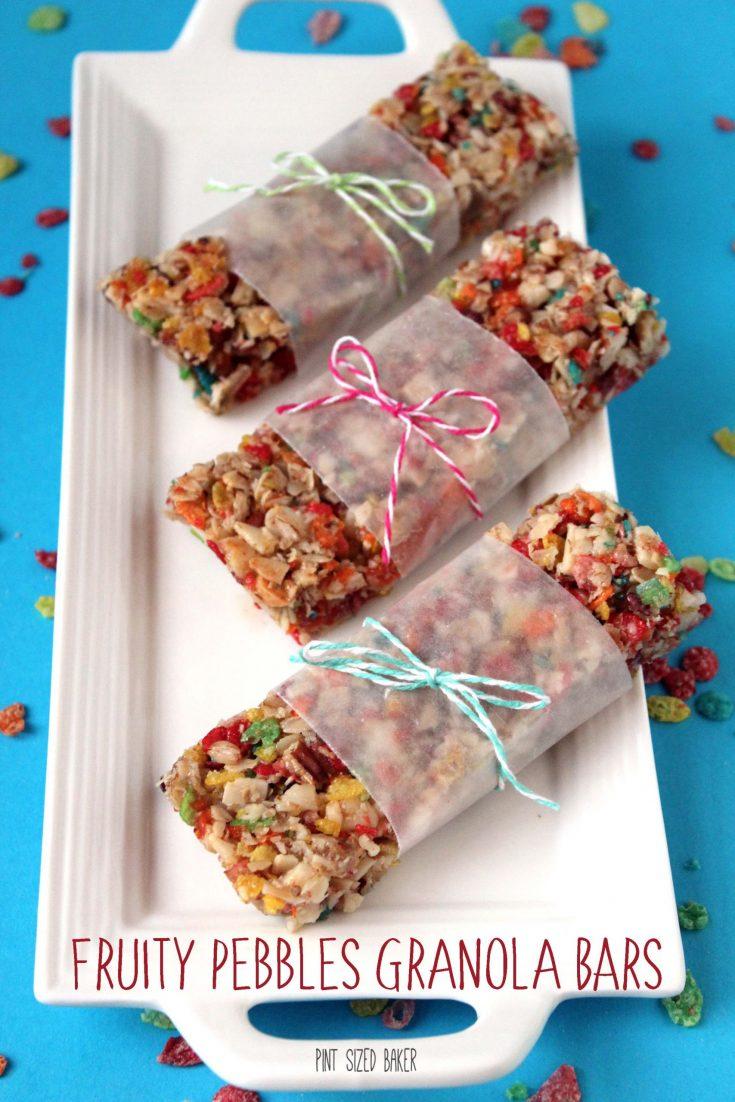 Fruity Pebbles Cereal Granola Bars