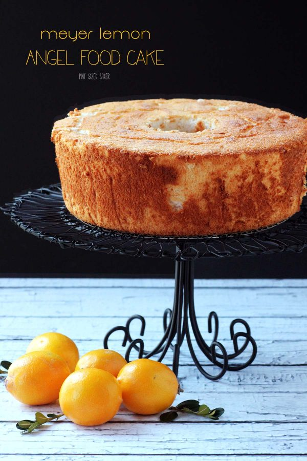The sweet taste of spring never tasted so good! This Meyer lemon angel food cake is perfect to serve for your spring garden party.