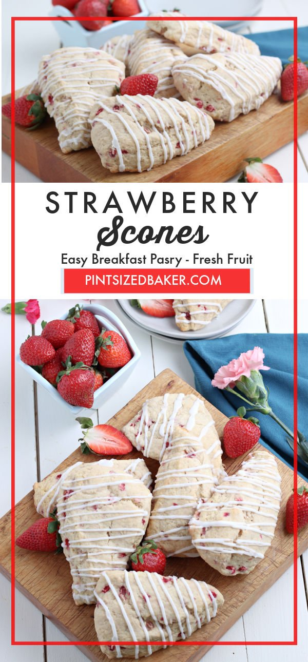 Put the perfect breakfast treat together with this recipe for Strawberry Scones. These sweet and wholesome scones taste great alongside a cup of hot tea, coffee, or milk in the morning.