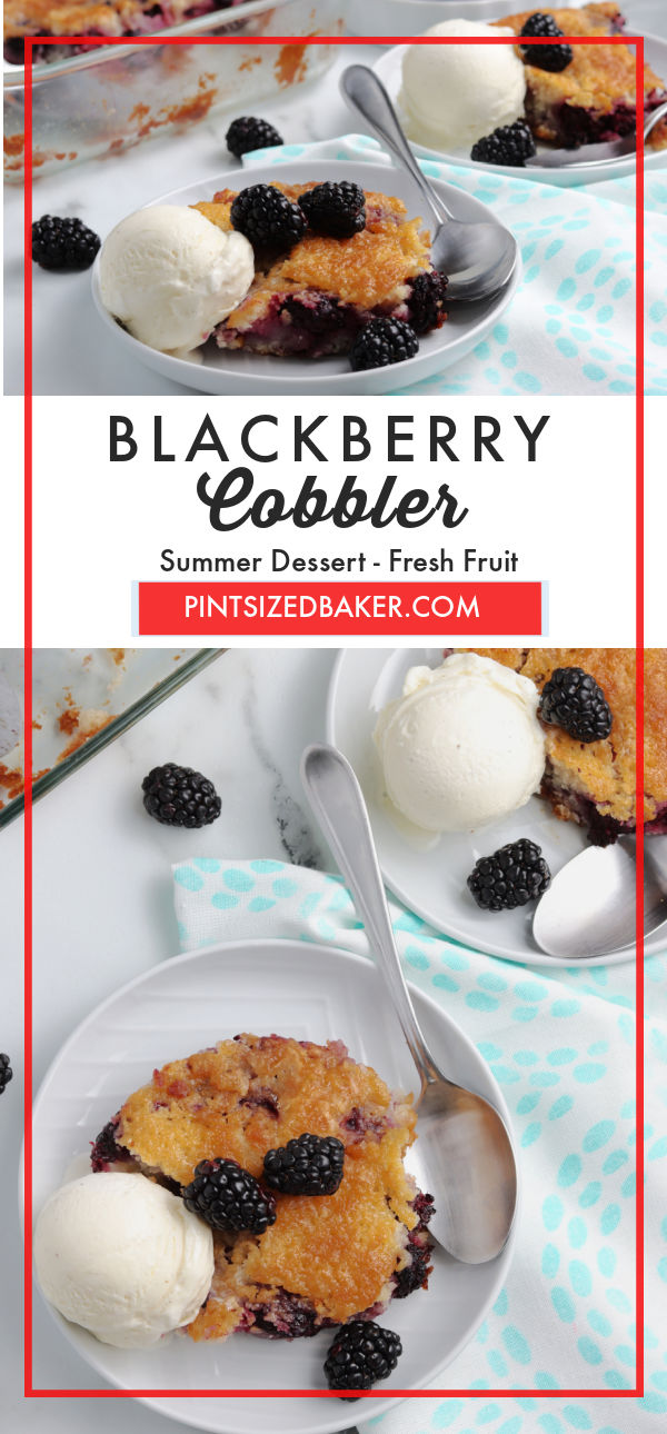 If you have a sweet tooth, try this Blackberry Cobbler recipe. You can make a sweet, fruity treat with minimal ingredients.