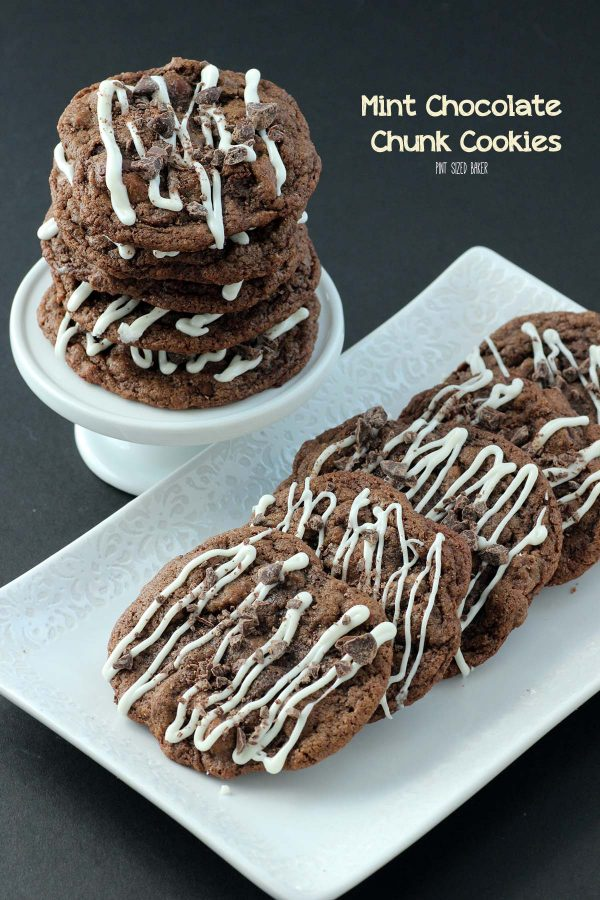 These mint chocolate chunk cookies are just what you need any day of the week! Triple Chocolate Cookies are just what the doctor ordered!
