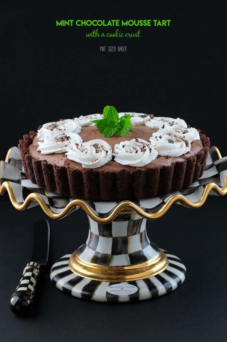 Mint Chocolate Mousse Tart