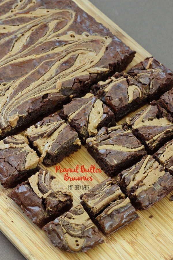 A classic brownie recipe with a delicious peanut butter swirl, these peanut butter brownies are the perfect combination!