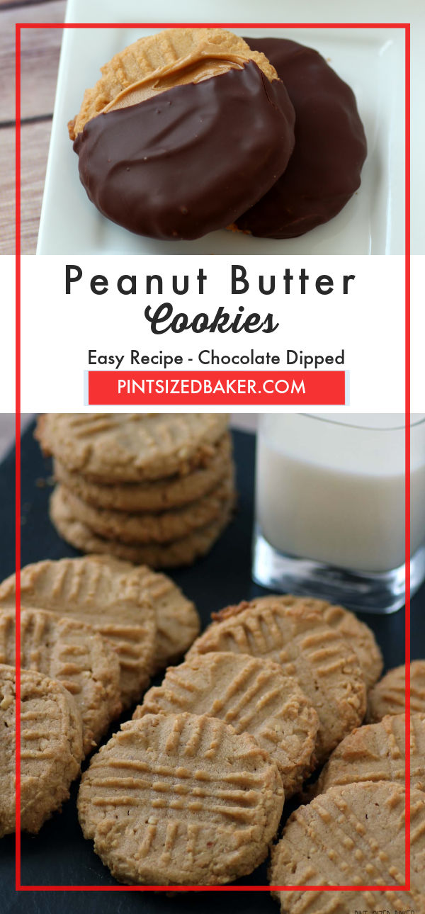 Bake these  classic Peanut Butter Cookies and then take them to the next level by smearing them with more PB and dunking them in chocolate!