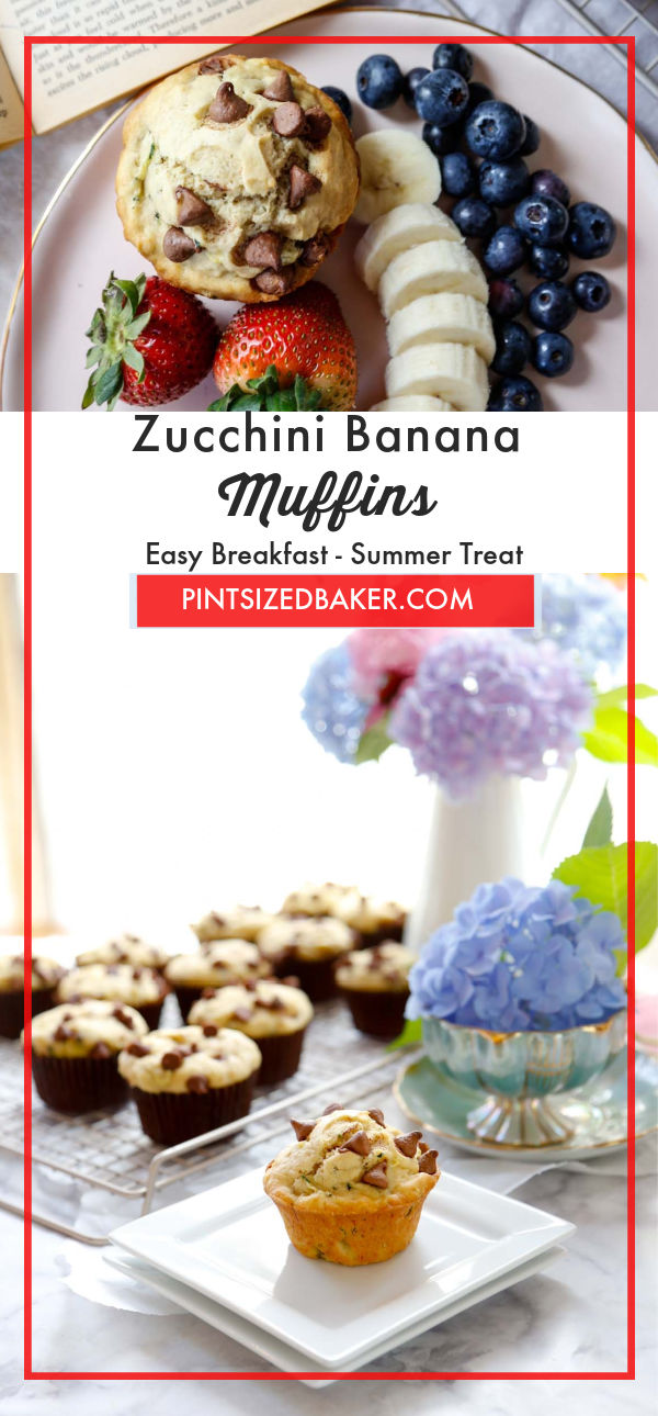 Make healthy, fruit-flavored baked goods with this recipe for Banana Zucchini Muffins. They're tasty, full of healthy ingredients, and perfect to eat for a quick breakfast treat.