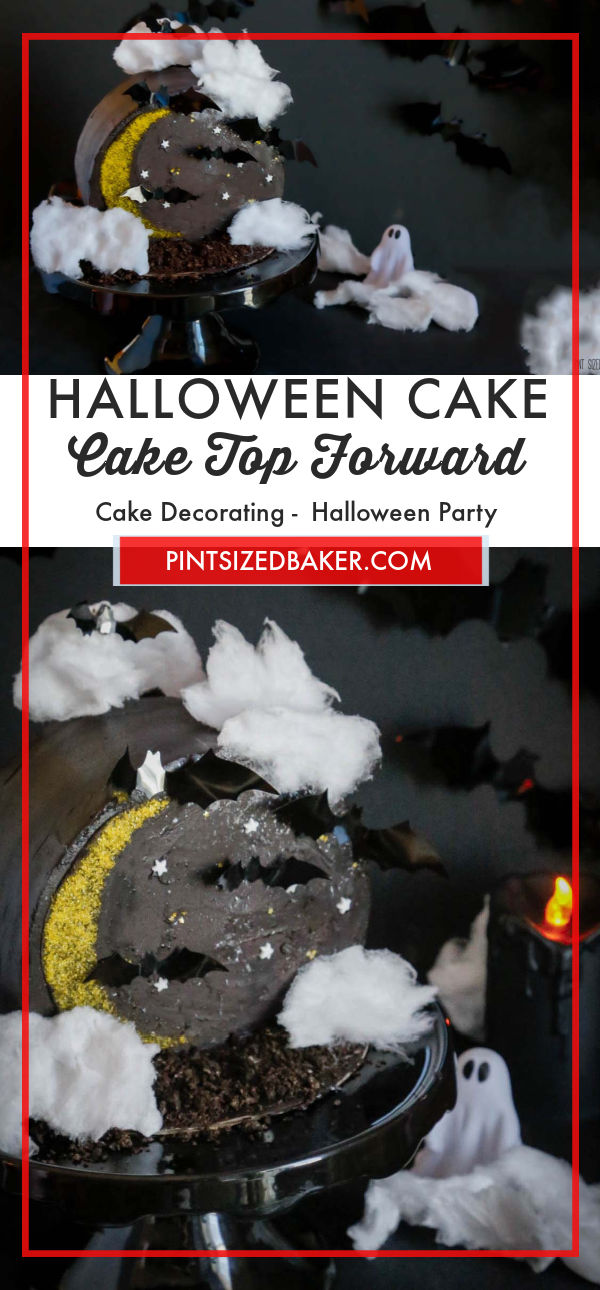 Learn how to make a Cake Top Forward Halloween Cake this year. Everyone goes crazy for this new way to showcase your cake!